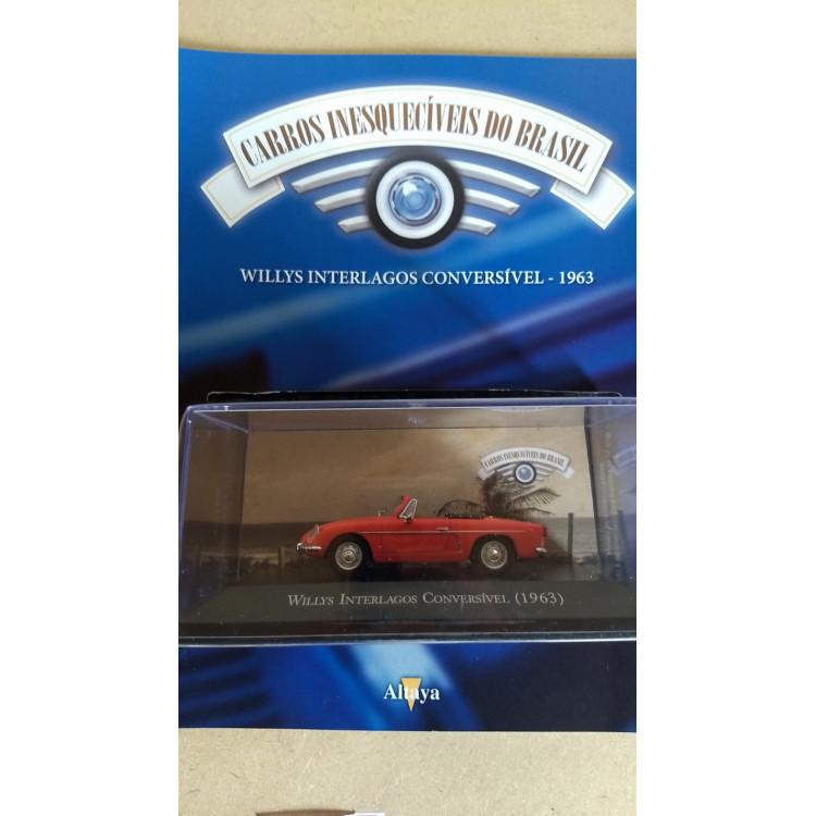 Willys Interlagos 1963 - Coleção Carros Inesquecíveis Do Br