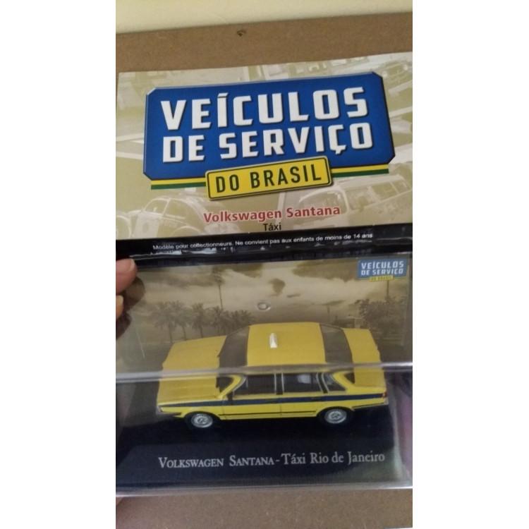 Santana Táxi Rj - Coleção Carros De Serviço - Ed. 06