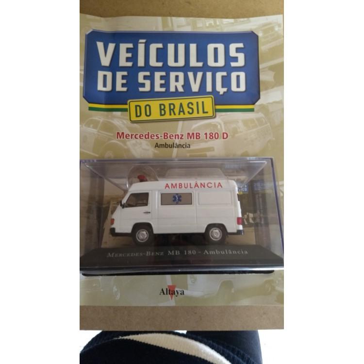 Ambulância Mb 180 - Coleção Carros De Serviço Ed. N. 09